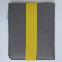 Pokrowiec na tablet, z żółtą gumką