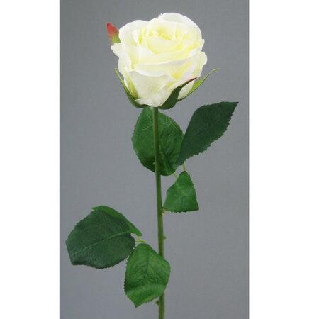 Sztuczny kwiat róże 48 cm białe 6 szt.