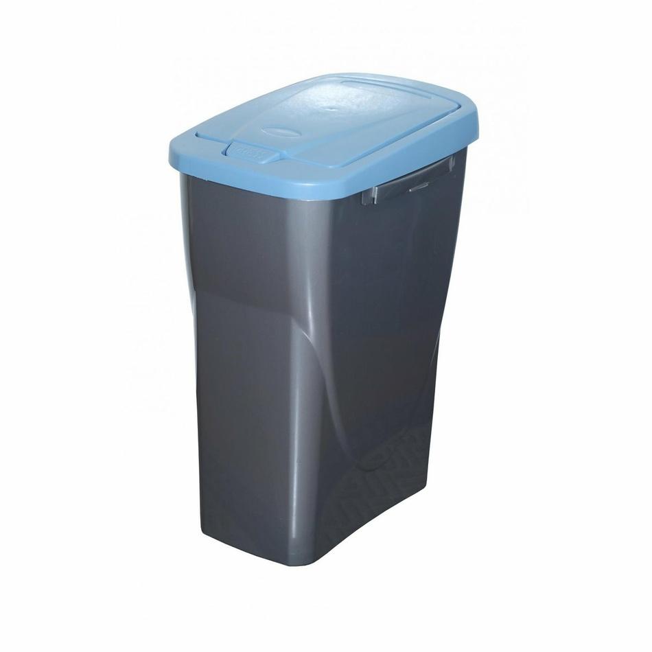 Kosz na śmieci do segregacji 42 x 31 x 21 cm, niebieska pokrywa, 15 l