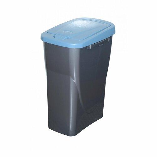 Szelektív hulladékgyűjtő kosár, 42 x 31 x 21 cm, kék fedél, 15 l