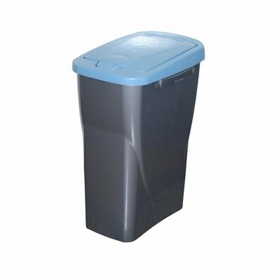 Koš na tříděný odpad 42 x 31 x 21 cm, modré víko, 15 l