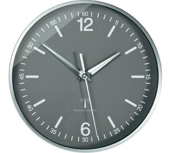 Hliníkové DCF nástenné hodiny Eurochron 19,5 cm