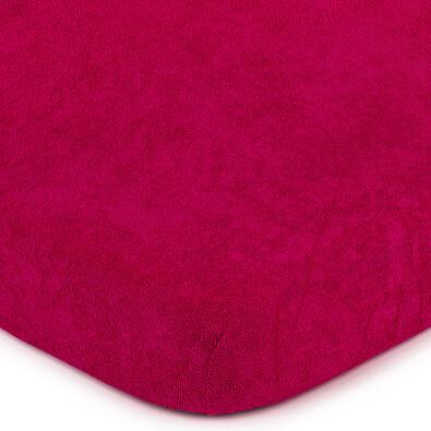 4Home froté prostěradlo tmavě růžová, 160 x 200 cm