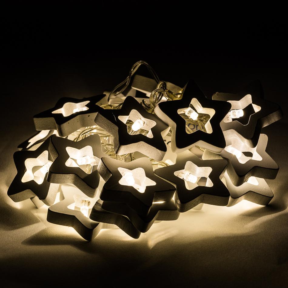 Dekorační světelný řetěz Stars, 20 LED