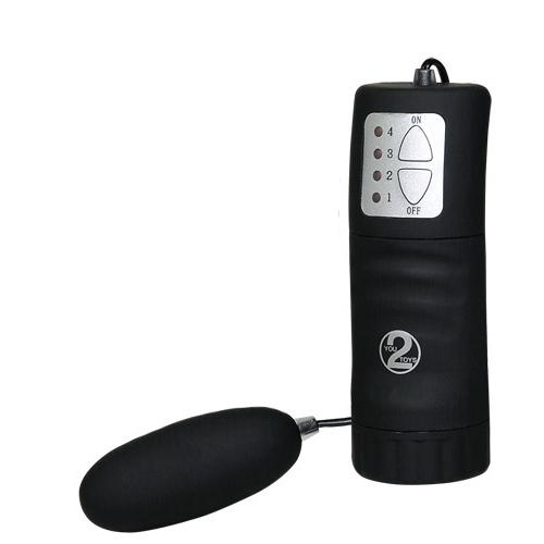 Vibrační vajíčko s ovládáním, černá