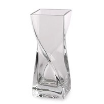 Altom Skleněná Váza vinutá Silvia, 8 x 20 cm