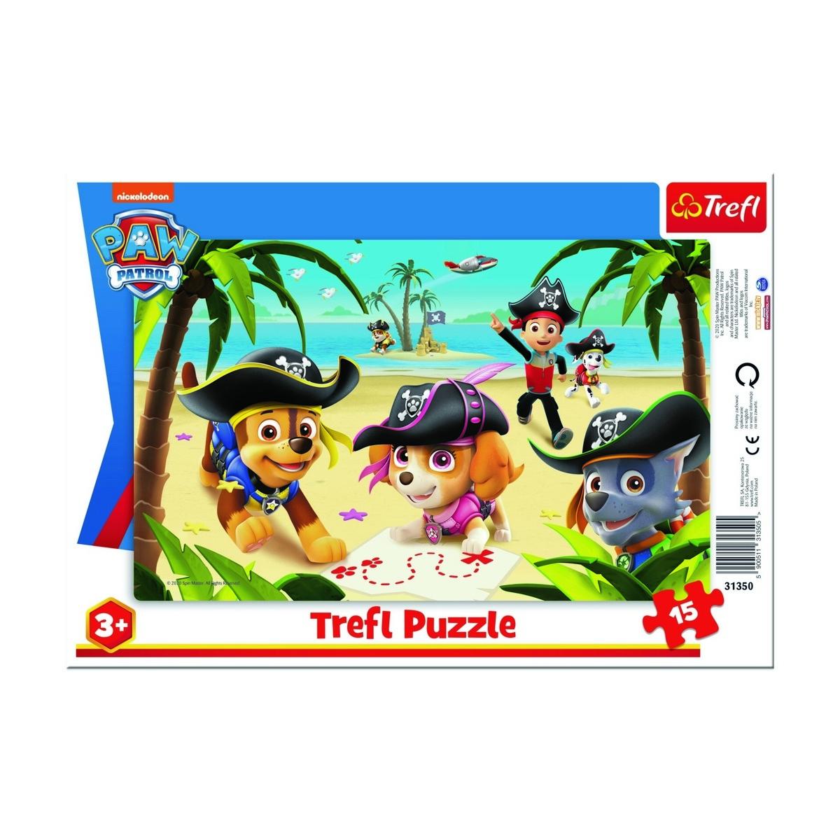 Puzzle Trefl Patrula cățelușilor - Expedițiapiraților, 15 piese imagine 2021 e4home.ro
