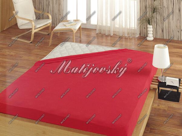Matějovský jersey prostěradlo červená, 100 x 200 cm