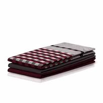 DecoKing Louie konyharuha, bordó és fekete, 50 x 70 cm, 3 db-os szett