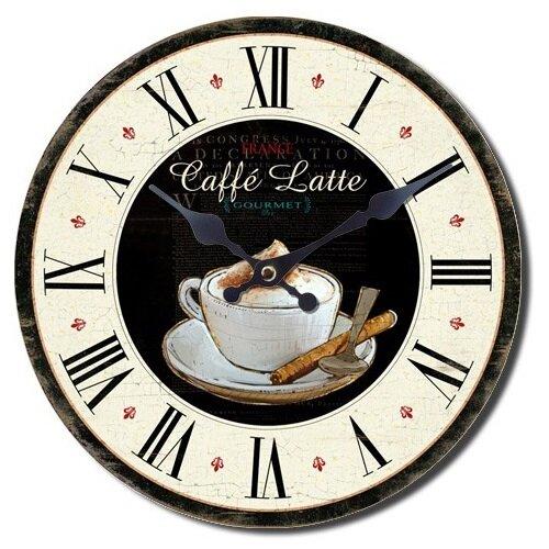 Nástěnné hodiny Caffé latte, pr. 28 cm