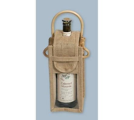 Juta - taška na 1 fľašu