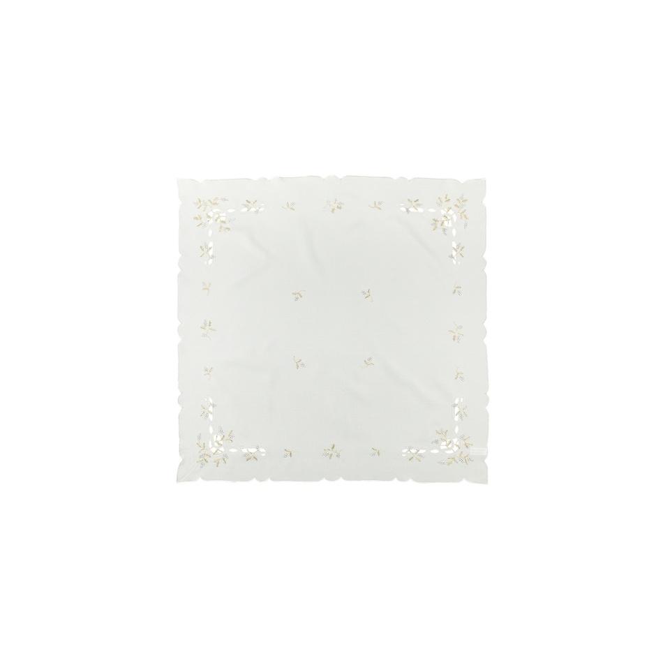 Forbyt Vánoční ubrus jmelí krémová,, 35 x 35 cm
