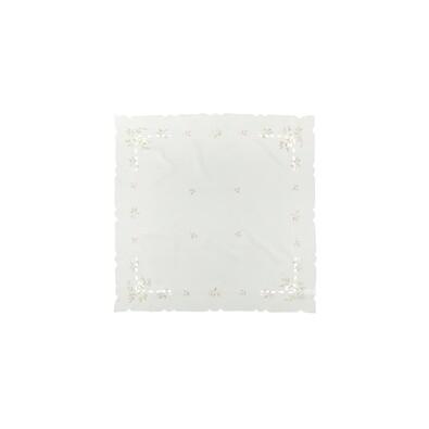 Vánoční ubrus jmelí krémová, 35 x 35 cm