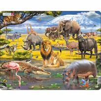 Larsen Puzzle Zvieratá v savane, 43 dielikov