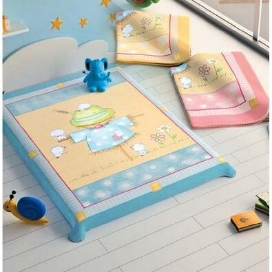 Španělská deka Baby Print - Strašák, růžová, 110 x 140 cm