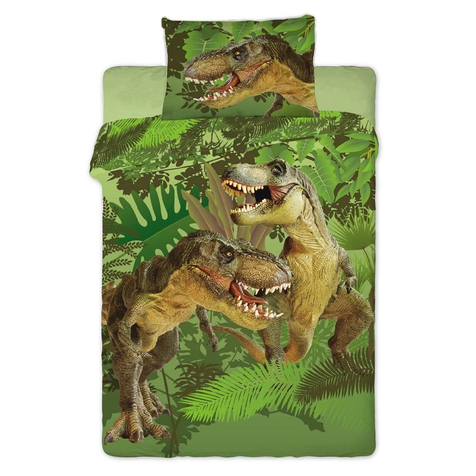 Jerry Fabrics bavlna povlečení fototisk -Dinosaur 2016 140x200 70x90