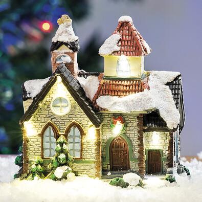 Svítící vánoční domeček