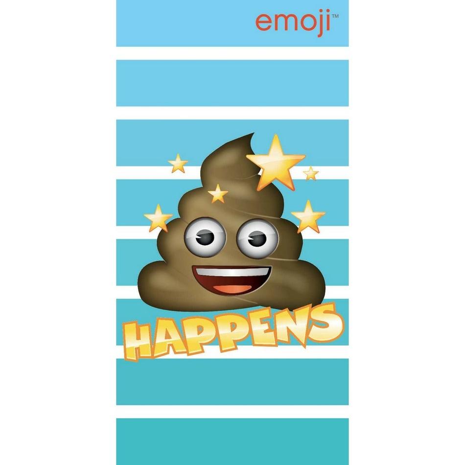 Jerry Fabrics Osuška Emoji Happens, 70 x 140 cm