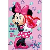 Pătură Jerry Fabrics Minnie pink, 100 x 150 cm