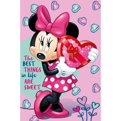 Jerry Fabrics Minnie pink takaró, 100 x 150 cm