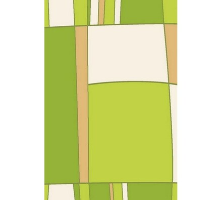 Kusový koberec Elana, zelený, 80 x 150 cm