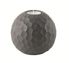 ASA Selection svícen Carve 10,5 cm tmavě šedá