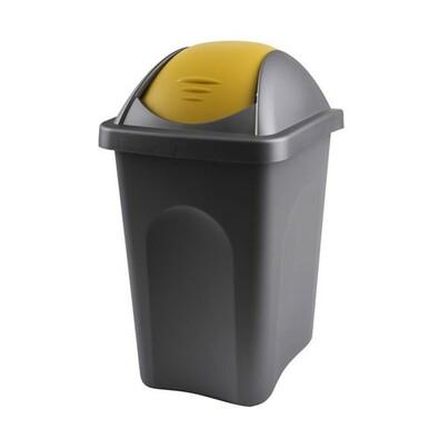 Multipat Odpadkový koš výklopný stříbrno žlutý 30 l