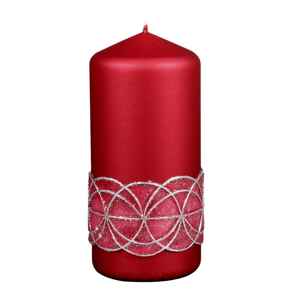 NG 94622bo Svíčka GLAMOUR VÁLEC vánoční d7x15cm 70x70x150