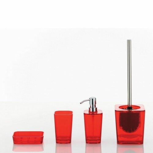 Kela WC set Kristall, červená