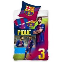 Pościel bawełniana FC Barcelona Piqué, 140 x 200 cm, 70 x 80 cm