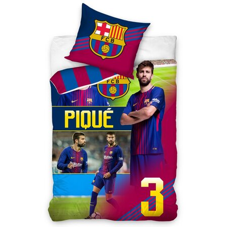 FC Barcelona Piqué pamut ágynemű, 140 x 200 cm, 70 x 80 cm
