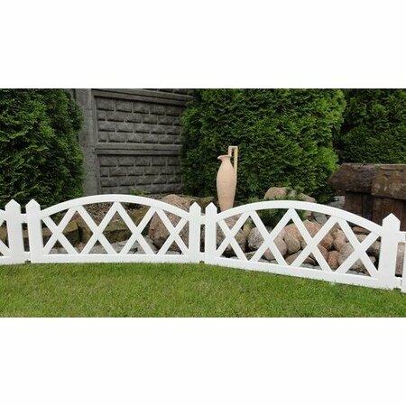 Gărduleţ de grădină, 2,3 m, alb