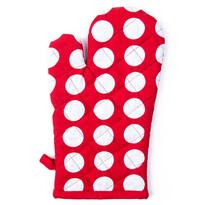 4Home Rękawica kuchenna Czerwona kropka, 18 x 30 cm