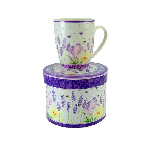 Porcelánový hrnček Levanduľa 340 ml v darčekovej krabičke