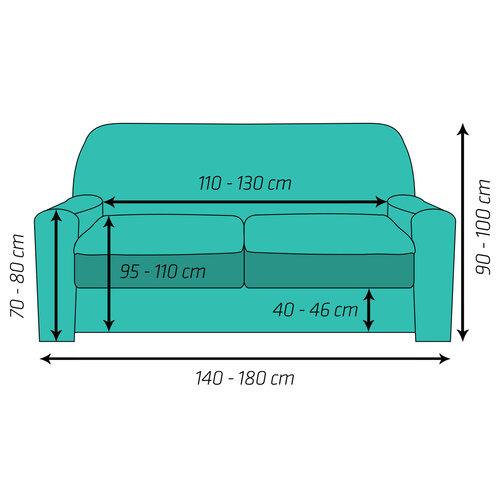 4Home Multielastický potah na dvojkřeslo Comfort hnědá, 140 - 180 cm