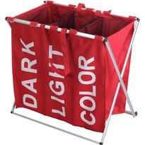 Koš na prádlo, 61 x 35 x 60 cm, červená