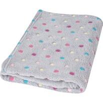 Pătură de copii Milly bulină gri, 75 x 100 cm