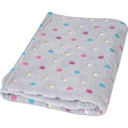 Dětská deka Milly puntík šedá, 75 x 100 cm