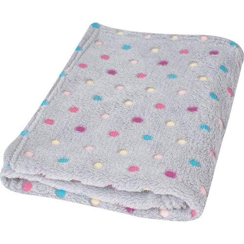 Milly gyermek takaró, pöttyös, szürke, 75 x 100 cm