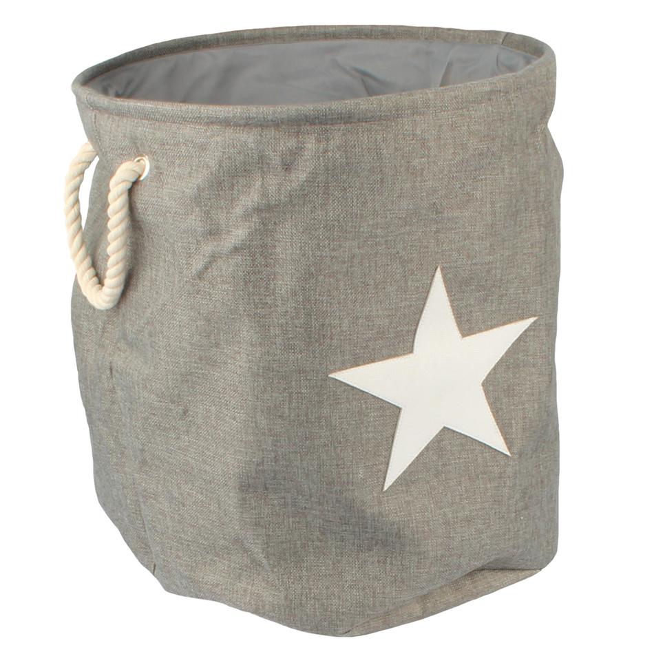 Dakls Textilný koš na prádlo Star, sivá