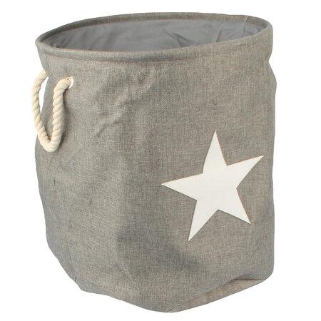 Textilní koš na prádlo Star, šedá