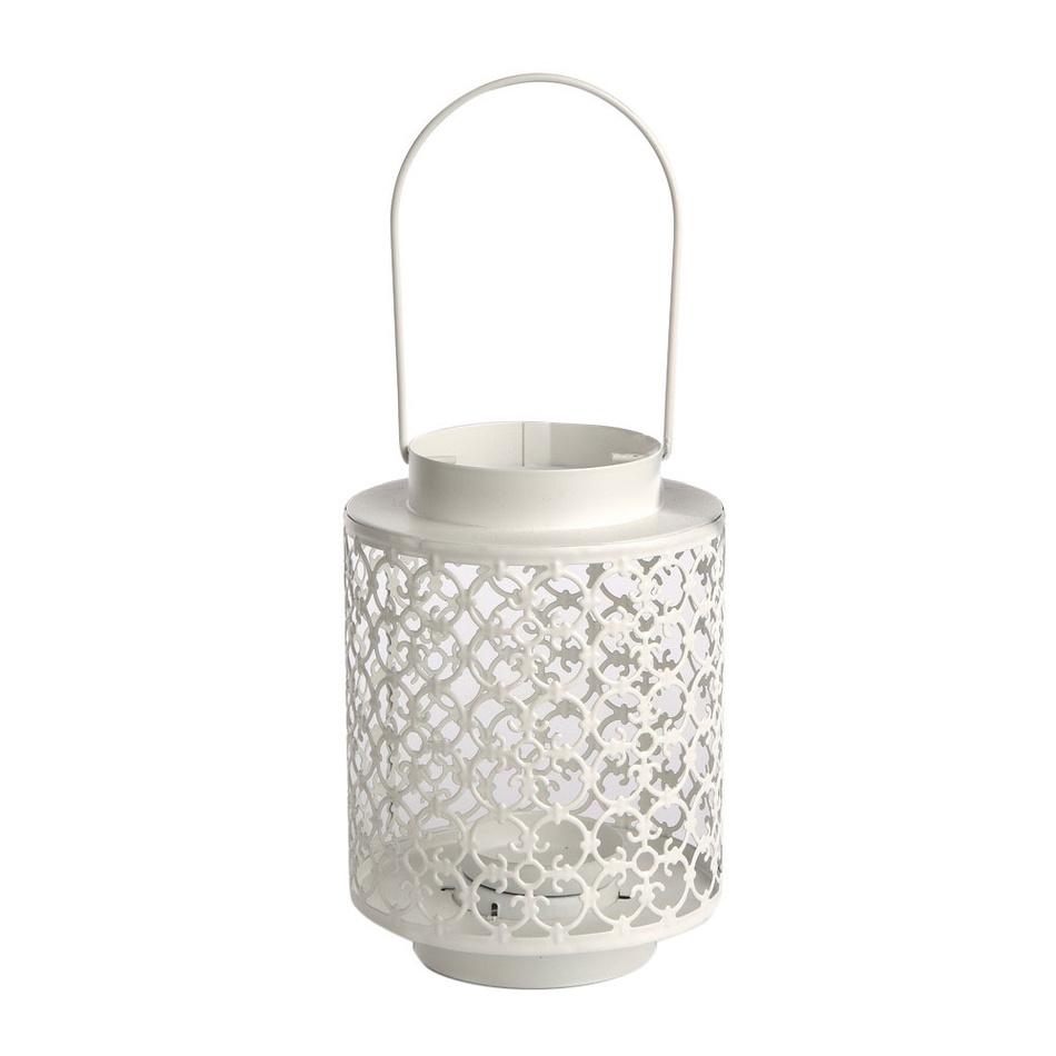 Altom Latarnia metalowa na świeczkę tea light Naya, 13 x 18,5 cm