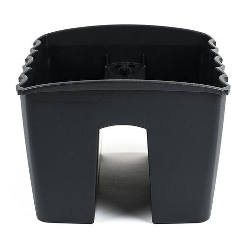 Balkónový truhlík na zábradlí tmavě šedá 18 l