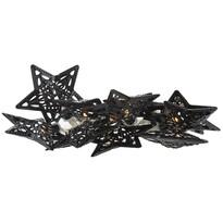 Lanț luminițe decorativ cu LED-uri Stars, negru