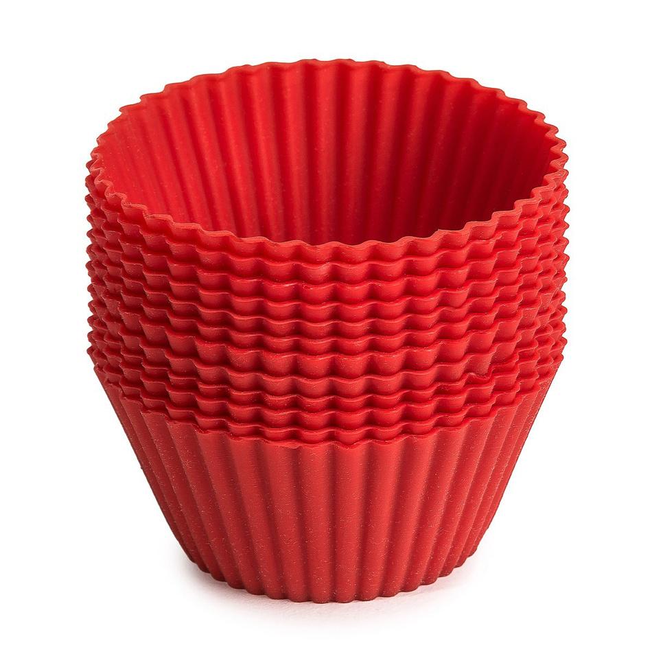 12dílná silikonová sada košíčků na muffiny