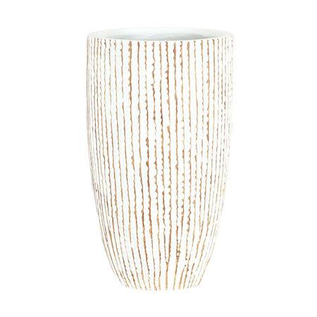 Polyresinová váza Stripe, béžová