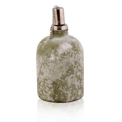 Skleněná olejová lampa zelená