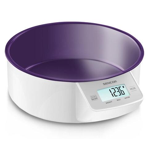 Sencor SKS 4004VT digitální kuchyňská váha, fialová