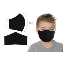 Ústne bavlnené rúško UNI čierna - deti do 12 rokov