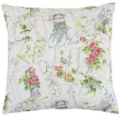 Poduszka Ema Kwiatowa widokówka, 45 x 45 cm